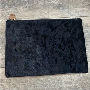 Black Crushed Velvet Clutch